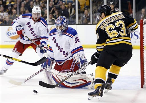 Bruins win lockout-delayed opener over Rangers 3-1