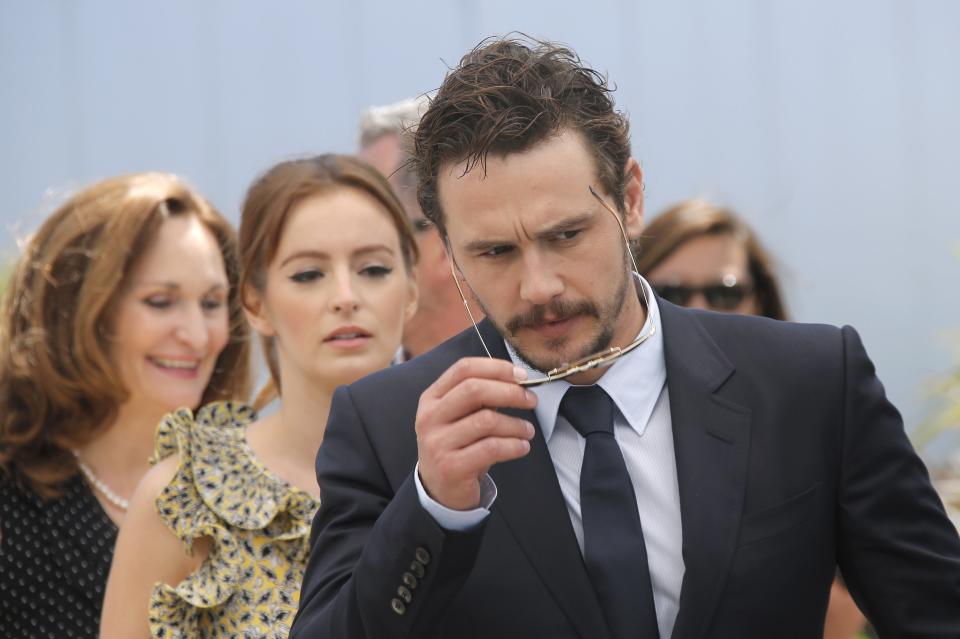Director James Franco arrives for a photo call for the film As I Lay Dying at the 66th international film festival, in Cannes, southern France, Monday, May 20, 2013. (AP Photo/Lionel Cironneau)