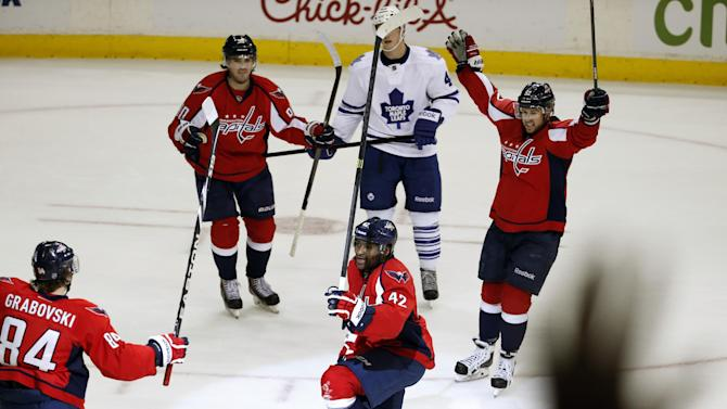 Ward, Ovechkin lead Caps past Maple Leafs 3-2
