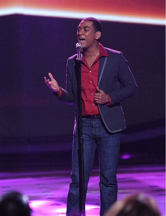 "Joshua Ledet performs ""You Pulled Me Through"" by Jennifer Hudson on ""American Idol."""
