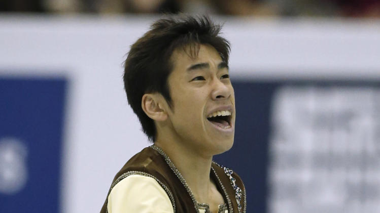 Oda of Japan performs during the men's free programme at the ISU Grand Prix of Figure Skating Final in Fukuoka