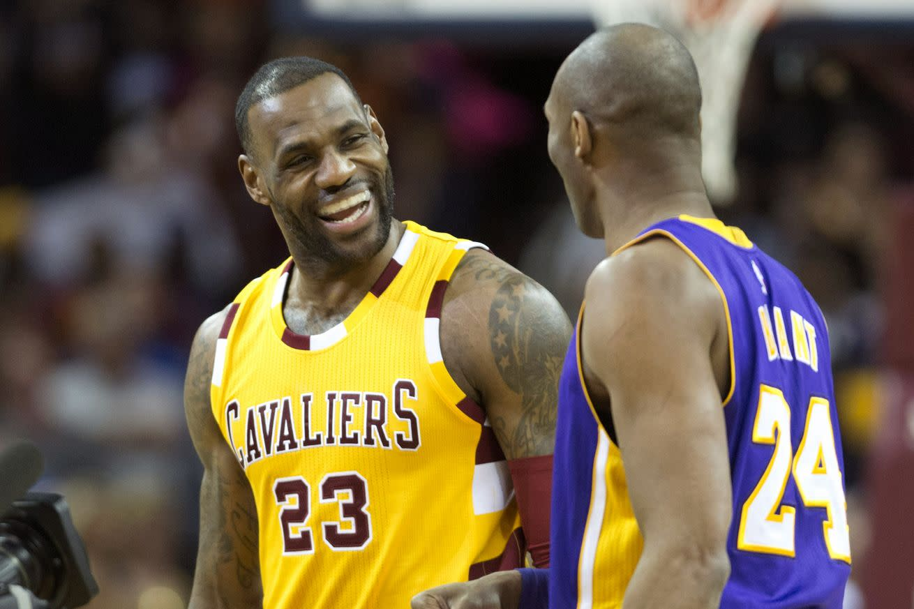 Find someone who looks at you the way LeBron looks at Kobe