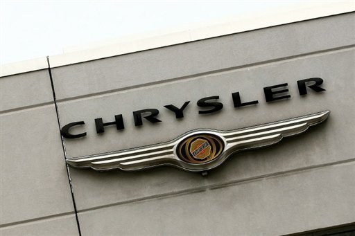 <p>The Chrysler logo is seen on the outside of a dealership in Manhattan in 2009. Chrysler said Tuesday its US sales of cars and trucks rose 14 percent last month, the biggest annual gain in five years for August.</p>