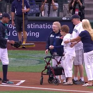 108-year-old fan tosses pitch