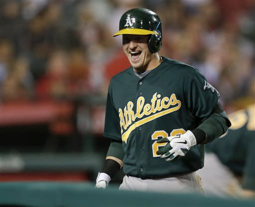 A's complete sweep of Angels with 8-1 win