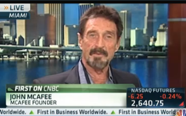 John McAfee Unleashes the Full Crazy