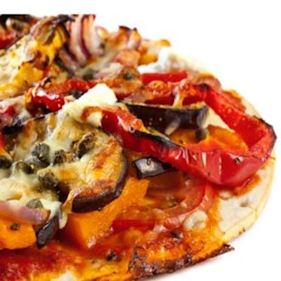 Gourmet pumpkin pizza