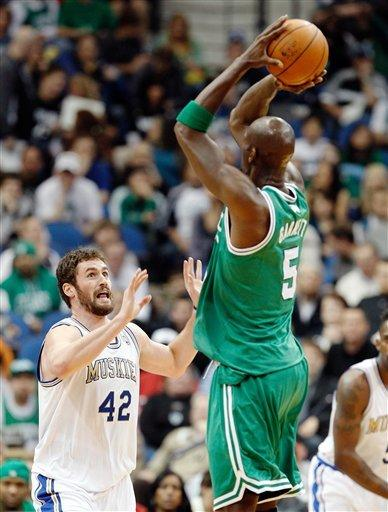 KG 6-0 against former team as Celtics top Wolves