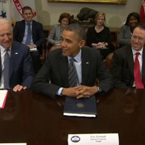 Obama meets with technology company executives