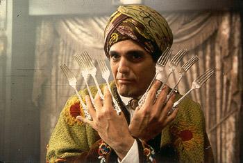 Hank Azaria as The Blue Raja in Universal's Mystery Men