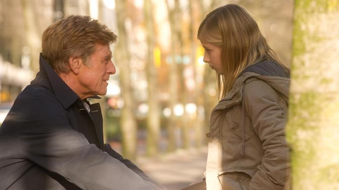 """This film image released by Sony Pictures Classics shows Robert Redford, left, and Jackie Evancho in a scene from """"The Company You Keep."""" (AP Photo/Sony Pictures Classics, Doane Gregory)"""