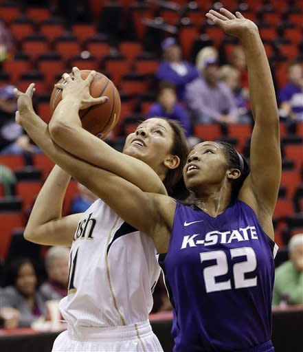 Diggins scores 22 as No. 5 Irish women top K-State