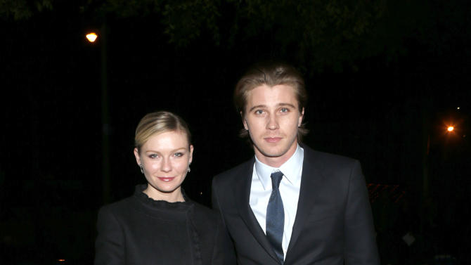 IMAGE DISTRIBUTED FOR CADILLAC - Kirsten Dunst and Garrett Hedlund attend the W Magazine's Best Performances and Golden Globe Awards Party Presented by Cadillac, on Friday, January, 11, 2013 in Los Angeles. (Photo by Todd Williamson/Invision for Cadillac/AP Images)