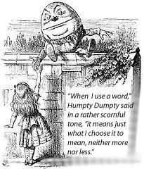 John Tenniel illustration of Alice and Humpty Dumpty from Through the Looking Glass, 1871