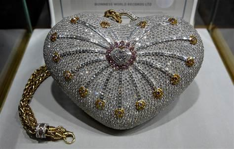 "The ""1001 Nights Diamond Purse"" by House of Mouawad is covered in diamonds. Cost? $3.8 million"