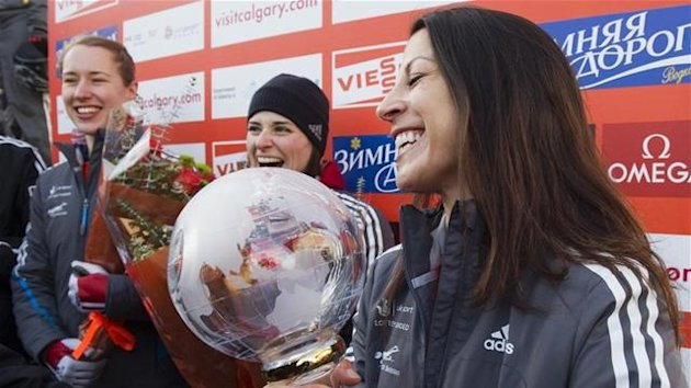 2012 Skeleton World Cup champion Shelley Rudman of Great Britain