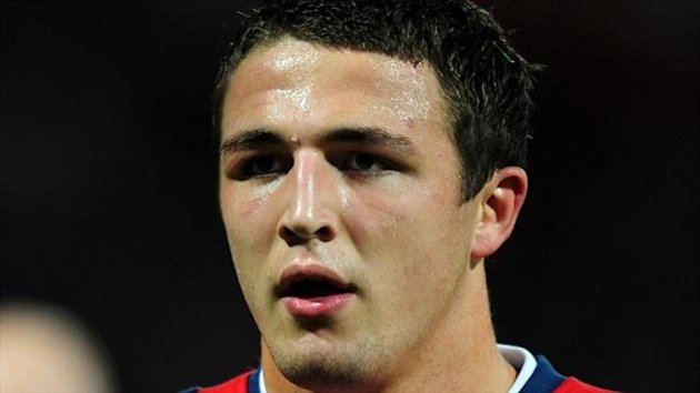 Sam Burgess scored a try as he was united on the pitch with his three brothers