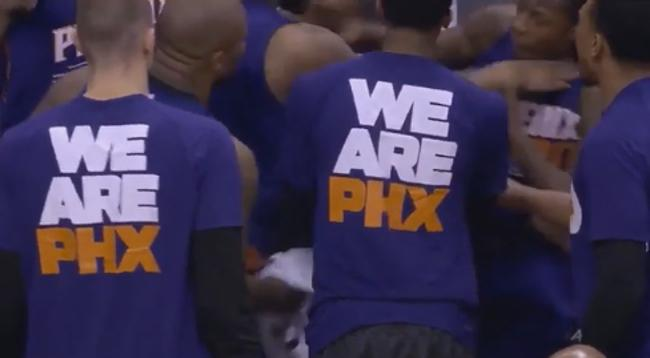 Markieff Morris and Archie Goodwin tussled on the Suns bench