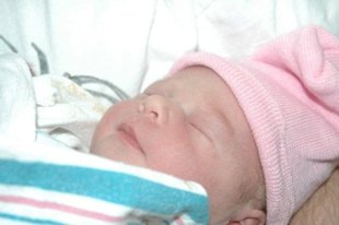 newborn baby girl