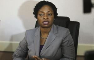 Adeshina, special adviser on public health to the Lagos state government, speaks with Reuters in her office after a news conference on suspected outbreak of Ebola virus in Lagos