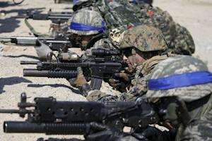South Korean and U.S. Marines take part in a U.S.-South …