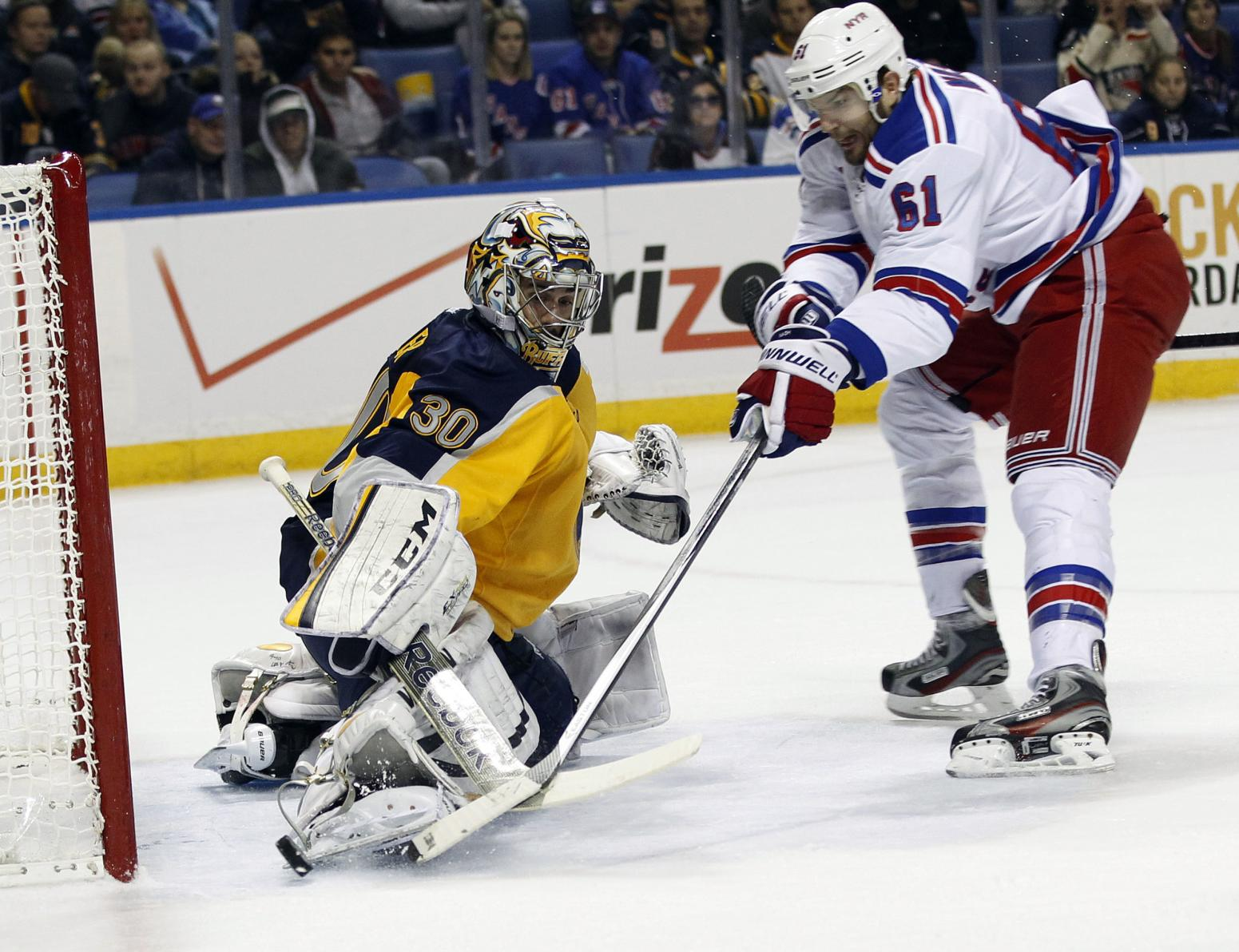 NHL: New York Rangers at Buffalo Sabres