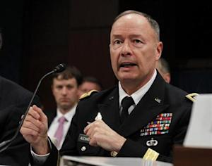 U.S. General Keith Alexander, director of the National Security Agency testifies at a House Intelligence Committee hearing on Capitol Hill in Washington