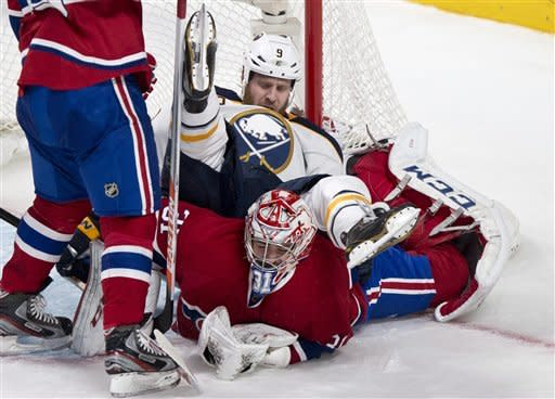 Sabres upend Canadiens in OT 3-2