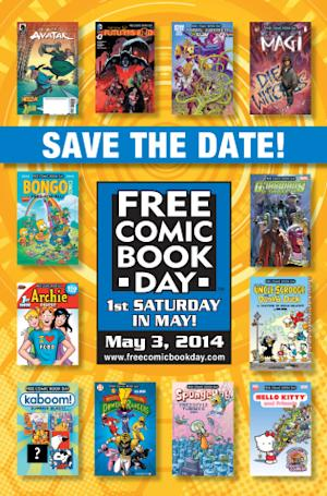 National Free Comic Book Day Hits Comic Book Specialty Shops May 3rd; Over 4.6 million comics to be given away free to comic shop customers