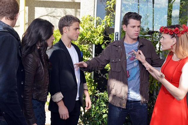 "SWITCHED AT BIRTH - ""Uprising"" - In an all-new episode of ""Switched at Birth"" told entirely in American Sign Language (ASL), the students at Carlton School for the Deaf protest to keep their school open. The ground-breaking episode, a first for a scripted series on mainstream television, will air Monday, March 4 at 8:00PM ET/PT on ABC Family."