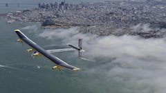 ht solar test flight kb 130425 wblog Solar Plane Makes Last Test Flight Before Across America Trip