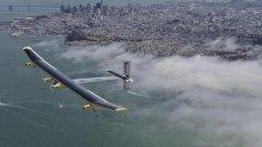 ht solar test flight kb 130425 wblog Solar Plane Makes Last Test Flight Before Across America Trip