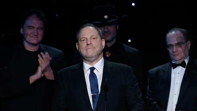 Producer Harvey Weinstein accepts an award onstage at the 24th Annual Producers Guild (PGA) Awards at the Beverly Hilton Hotel on Saturday Jan. 26, 2013, in Beverly Hills, Calif. (Photo by Todd Williamson/Invision for The Producers Guild/AP Images)