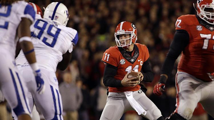 Murray hurts knee, Georgia routs Kentucky 59-17