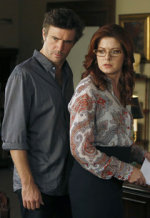 Jack Davenport, Debra Messing | Photo Credits: Craig Blankenhorn/NBC