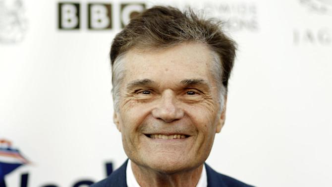 FILE - This April 26, 2011 file photo shows actor Fred Willard arriving at the fifth annual BritWeek in Los Angeles. Willard, who starred in such films as ``Best in Show'' and ``Anchorman: The Legend of Ron Burgundy,'' was arrested in a Hollywood theater July 18, 2012, on suspicion of engaging in a lewd act, police said Wednesday.(AP Photo/Matt Sayles, File)