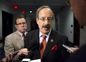 Engel speaks to the media before attending a closed meeting for members of Congress on Syria in Washington