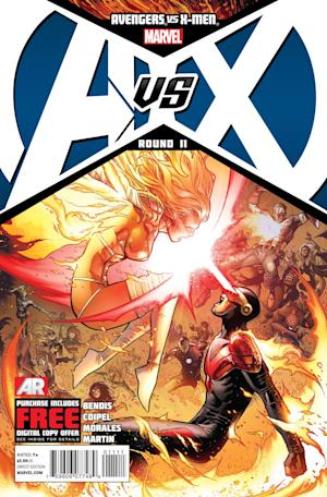 "This comic book cover released by Marvel shows the ""Avengers VS. X-Men #11"" issue. Marvel Comics is killing off Charles Xavier, the founder of its famed X-Men, with his killer none other than Scott Summers who, as Cyclops, was one of the original five mutants whom Xavier taught to use his powers to help man- and mutant kind with mixed results. The death comes in ""Avengers Vx. X-Men"" No. 11, which was released Wednesday, Sept. 12. (AP Photo/Marvel Comics)"