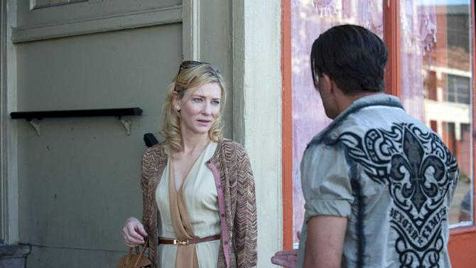 "This image released by Sony Pictures Classics shows Cate Blanchett in a scene from the film, ""Blue Jasmine."" Blanchett is nominated for an Oscar for her performance as an actress in a leading role. The 86th Academy Awards are held on Sunday, March 2, 2014. (AP Photo/Sony Pictures Classics, file)"