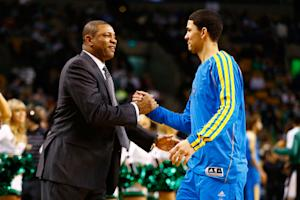 Hornets win matchup of Doc, Austin Rivers 90-78
