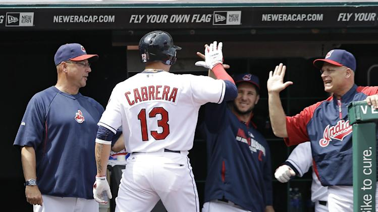 Cabrera, Brantley lead Indians past Twins 9-4
