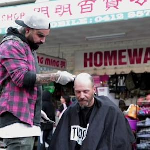 On His Day Off This Barber Cuts Hair for Homeless - See the Transformations!