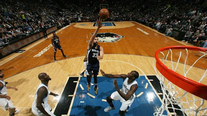 Gasol, Grizzlies withstand scare from Wolves in 101-97 win