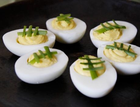 Football Deviled Eggs