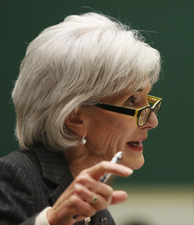 U.S. Health and Human Services Secretary Sebelius testifies on Capitol Hill in Washington