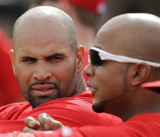 Pujols doubles, goes 2 for 3 in Angels debut