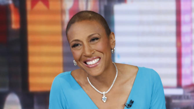 """This image released by ABC shows anchor Robin Roberts during a broadcast of """"Good Morning America,"""" Wednesday, Feb. 20, 2013 in New York.  Roberts is resting at home and off """"Good Morning America"""" this week after another hospital stay as part of her recuperation from a rare blood disease. The ABC News morning show host said she felt ill last week while on vacation and was told to return to New York and go to the hospital to fight off an infection. She's home now, and posted on Facebook on Thursday, April 18, that she's feeling much better. Roberts underwent a bone marrow transplant last September to treat MDS, a blood and bone marrow disease.  (AP Photo/ABC, Heidi Gutman)"""
