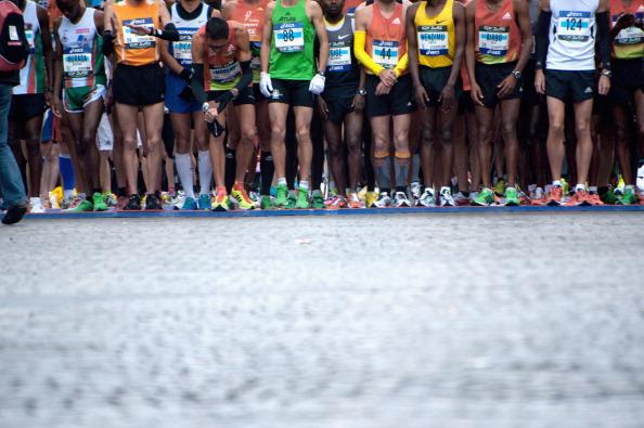 Competitors run during the 36th Paris Marathon on April 15, 2012 in Paris, France. (Photo by Trago/Getty Images)