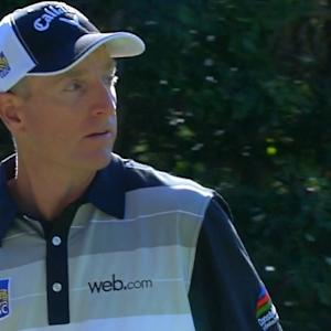 Jim Furyk's tee shot sets up birdie at Deutsche Bank