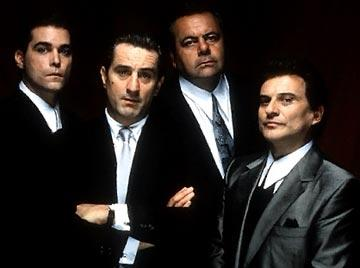 Ray Liotta , Robert De Niro , Paul Sorvino and Joe Pesci in Warner Brothers' Goodfellas